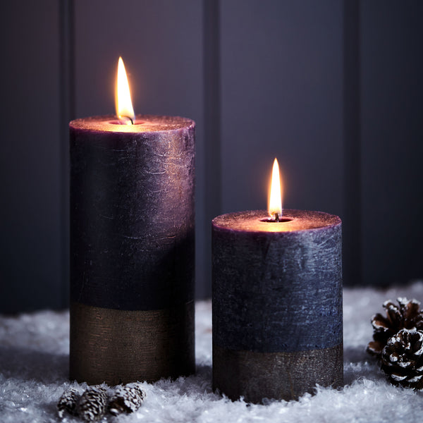 Pillar Candle - Midnight and Bronze