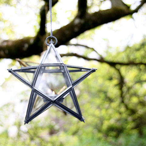 Antique Zinc Glass Star