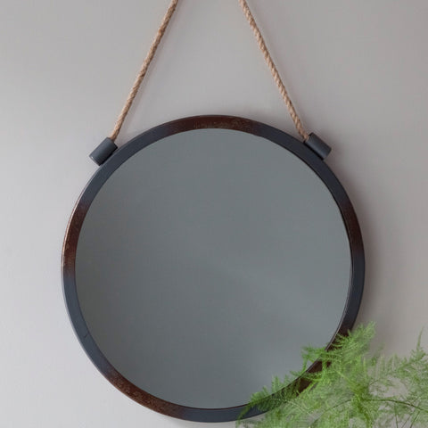 Handmade Grey Hanging Mirror
