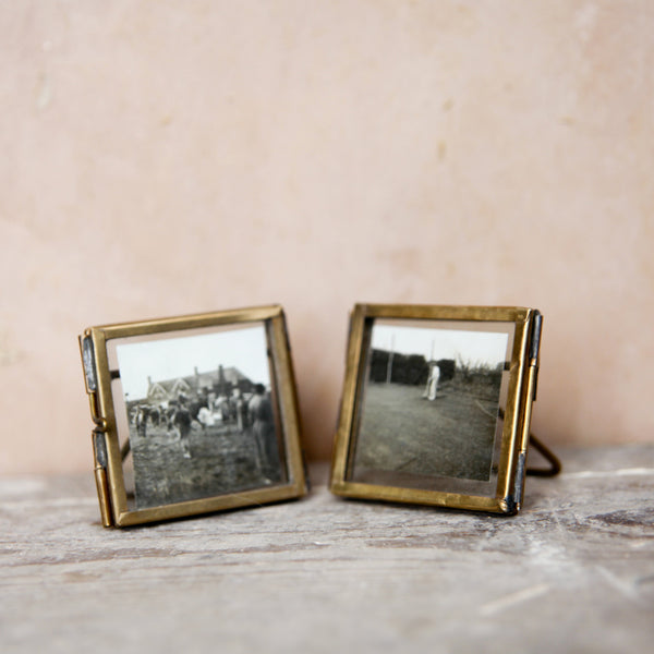Mini Antique Brass Frame - Set of Two