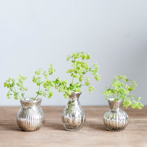 Trio of Glass Vases
