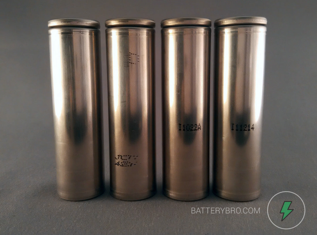 all four hg2 batteries unwrapped and in a row