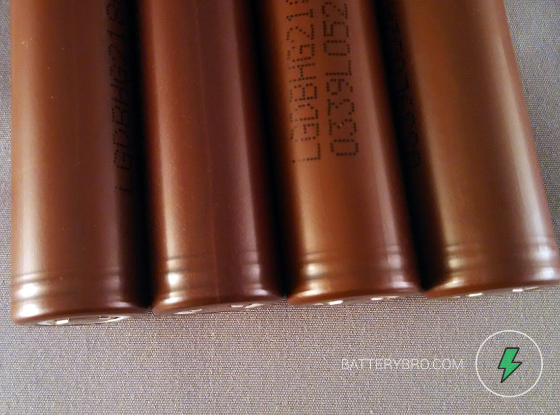Four choco batts with top cap grooves for inspection