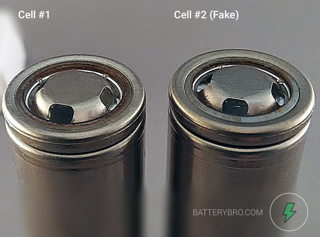 Another angle of the two batteries