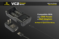 VC2 Charger (Kit) - 18650 Battery | BATTERY BRO - 7