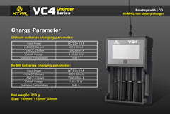 VC4 Charger (Kit) - 18650 Battery | BATTERY BRO - 9