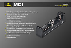 MC1 Charger - 18650 Battery | BATTERY BRO - 6