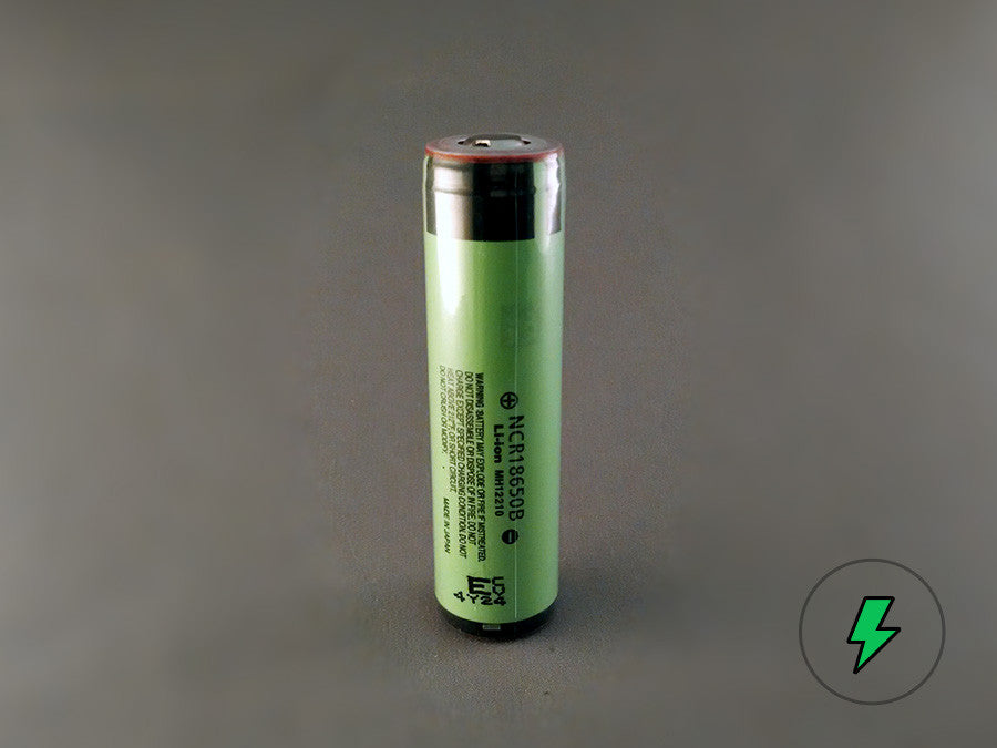 Panasonic NCR18650B (Protected, Button-top) - 18650 Battery | BATTERY BRO