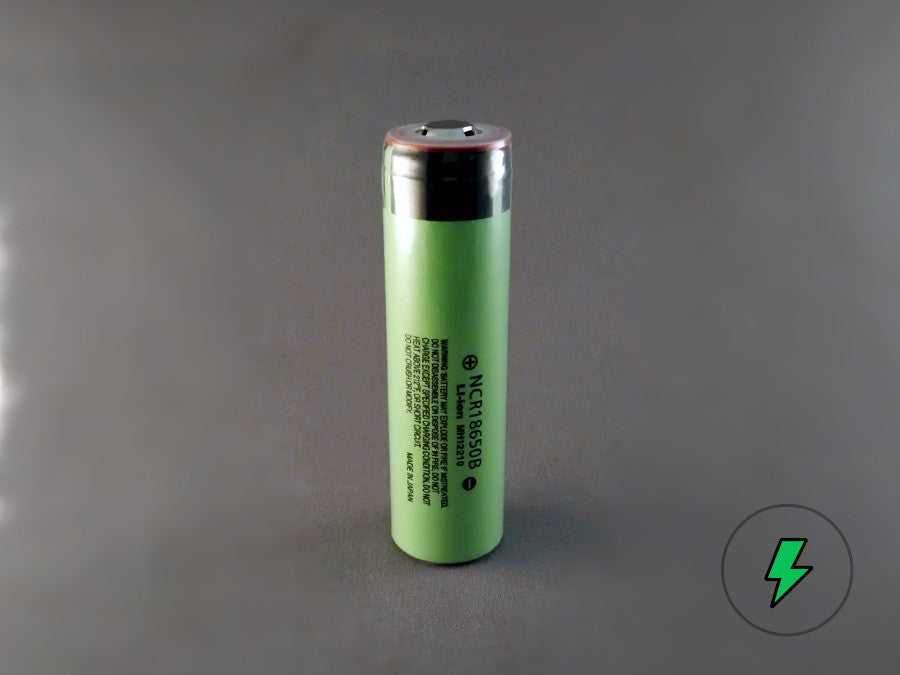 Panasonic NCR18650B (Unprotected, Button-top) - 18650 Battery | BATTERY BRO