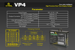 VP4 Charger (Kit) - 18650 Battery | BATTERY BRO - 10