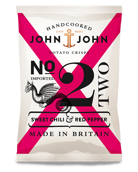John & John Crisps Sweet chili & Red Pepper