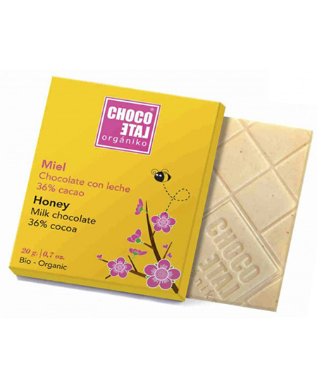 ChocoLate Orgániko Milk Chocolate Honey
