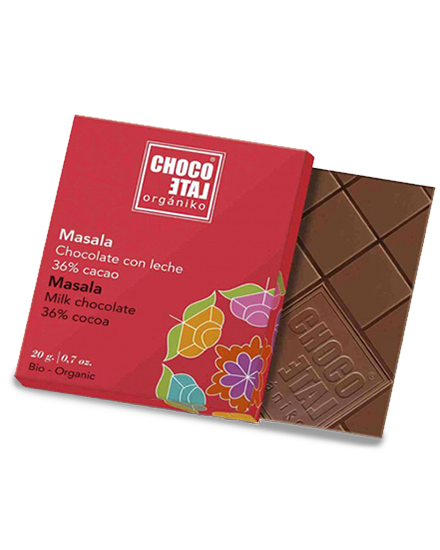ChocoLate Orgániko Milk Chocolate Masala