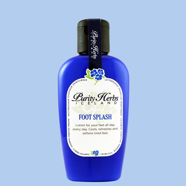 Foot Splash. A perfect lotion for your feet. It has a cooling and soothing effect on your tired feet. Minimizes odor and has anti-fungal properties. It recommended for athletes.