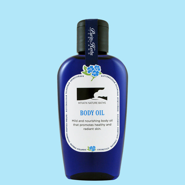 The Body Oil is a mixture of natural plant from the area of Myvatn