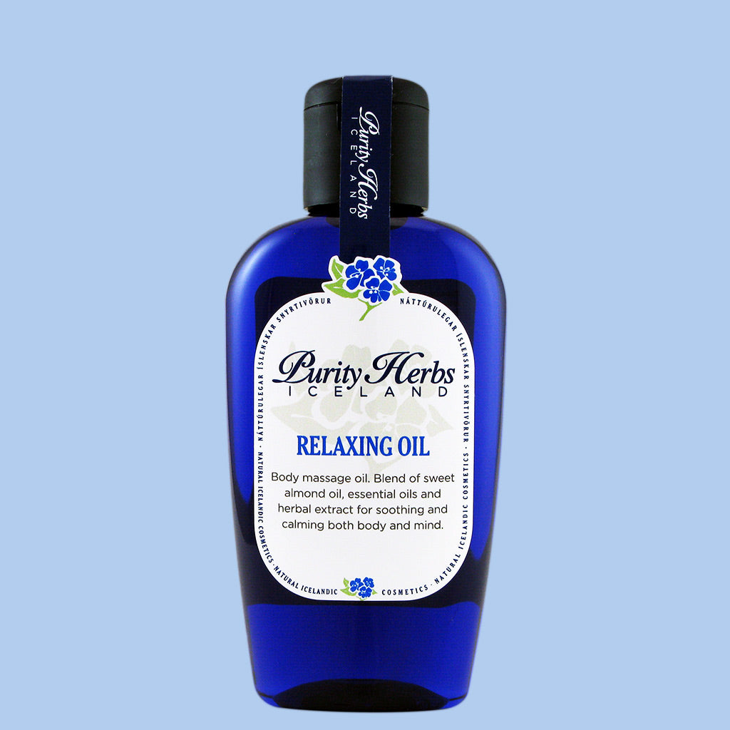 Body massage oil that moisturizes the skin and relaxes both body and mind