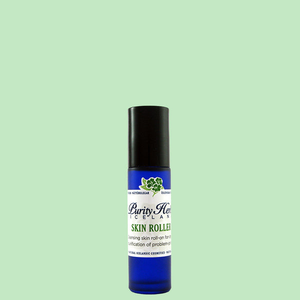 Skin roller is effective on acne using appropriate herbs for cosmetic purposes, handpicked from raw Icelandic nature