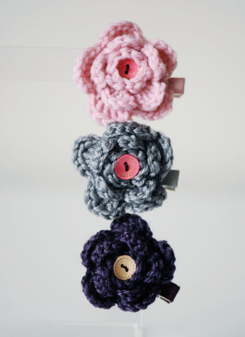 Flor Button Knit Pin
