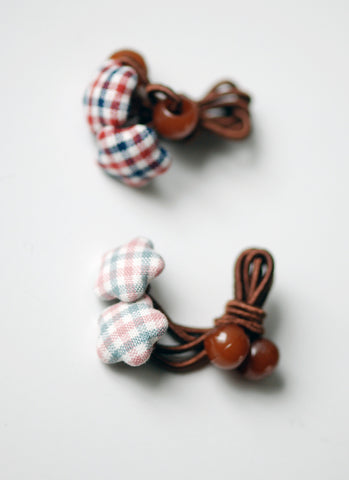 Gingham Stars Hairties