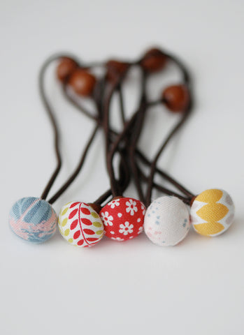 Penelope Button Hairties Set