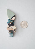Little Miss Ponchette Wood Pin