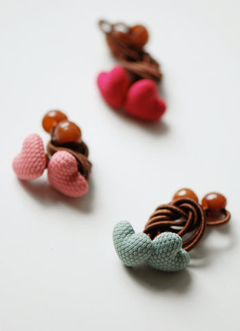 Warm Hearts Hairties