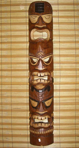Triple Head Tahitian Tiki Mask