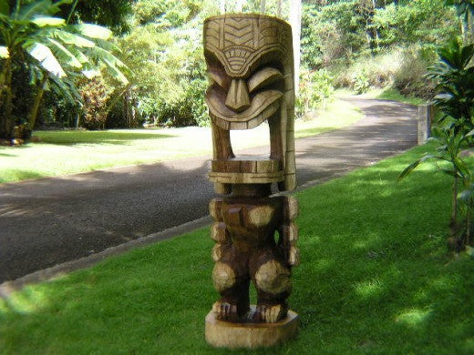Natural  Hawaii Heritage Tiki God Ku 40""