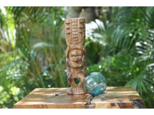 "Hurricane Tiki Totem 8"" Natural - Hawaiian Tiki Bar Decor"