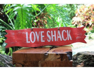"""Love Shack"" Red Sign - 20"" - Home Decor"