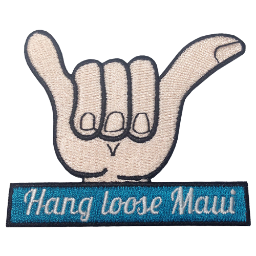 Hang Loose Maui Patch