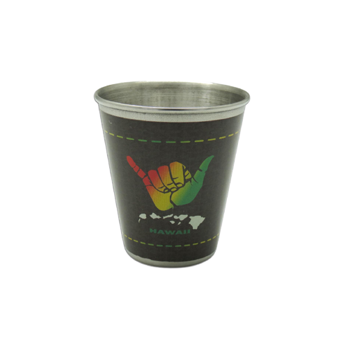 Hang Loose Metal Shot Glass