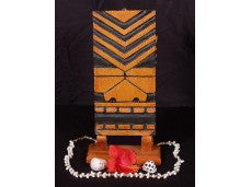 "POHAKU TIKI MASK 12"" - POP ART MODERN TIKI DECOR"