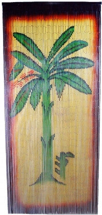 Doorway Palm Tree Bamboo Curtain