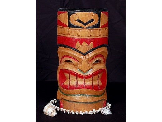 CARVED POLYNESIAN TAHITIAN MASK 12""