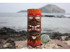 "Flaming Tiki Totem 8"" w/ Lava Hawaii"