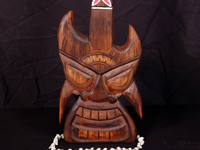 "TIKI GUITAR 24"" - TROPICAL MUSIC DECOR"