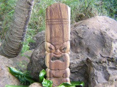 "KU TIKI MASK - 36"" - HAND CARVED MASKS IN HAWAII"