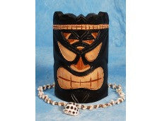 "SMOKIN' ACES TIKI MASK 8"" - BAR DECOR"