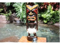 Hawaiian Tiki Mask-Statue  12""