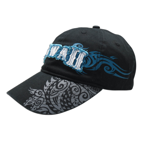 Hawaii Cap w/ Tribal Brim