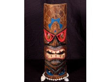 "POLYNESIAN CARVED TIKI MASK 20"" - BEACH DECOR"