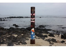 """Da Hula Man"" Tiki Statue 62"" - Hand Painted & Carved - Tropical Decor"