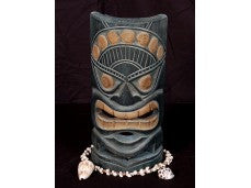 CARVED POLYNESIAN TAHITIAN MASK 8""
