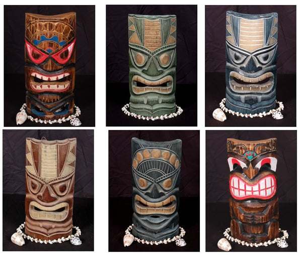 6 Tiki Masks - Package Deal 12""