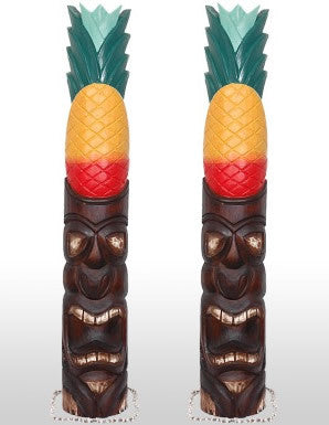 "TIKI MASK PINEAPPLE 40"" RASTAMAN - SET OF 2 - Package Deal"