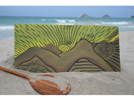 """THE MOKULUA'S GODDESS"" 30"" X 15"""