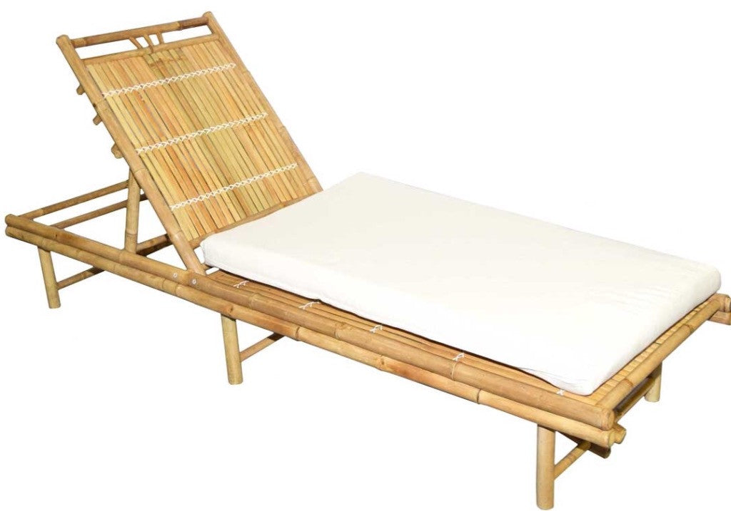 Bamboo Sunbed and Cushion