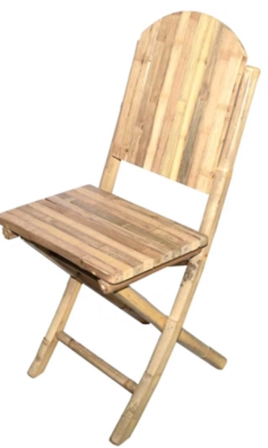 2 Solid Bamboo Armless Chair