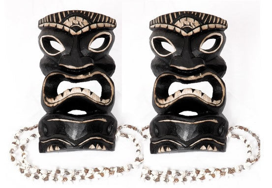 2 Warrior Tiki Masks - Package Deal 8""